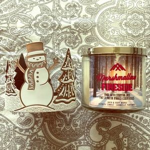 Bath & Body Works candle & candle holder
